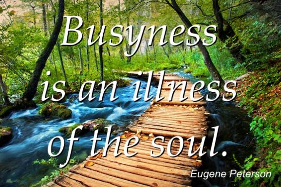 Jumpstart: Busyness